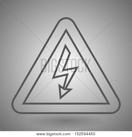 electric sign linear icon. Thin line design