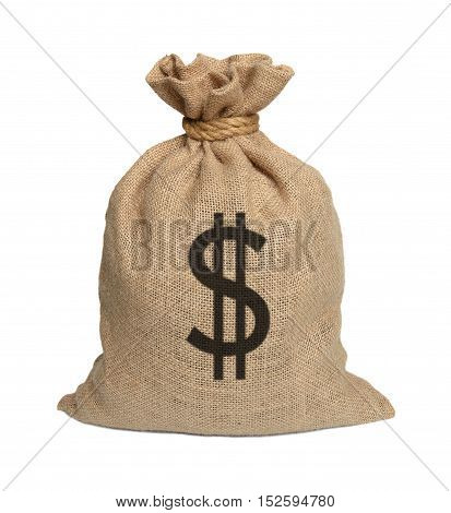 Bag from Dollars isolated on a white background.