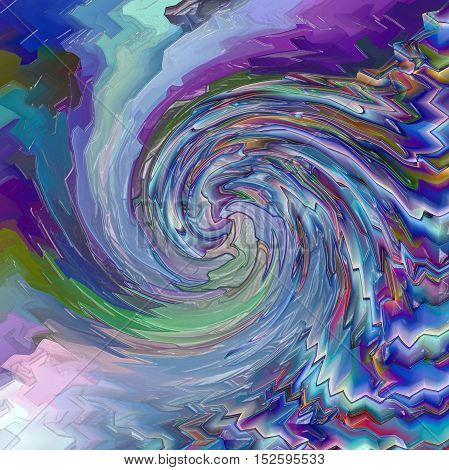 Abstract coloring background of the horizon gradient with visual pagecurl, lighting,wave,twirl and plastic wrap effects, good for your project design
