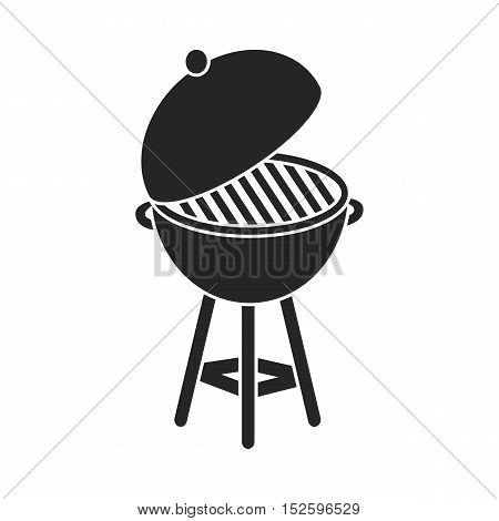 Barbecue icon in black style isolated on white background. Patriot day symbol vector illustration.