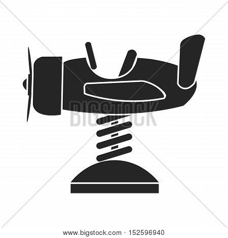 Spring plane icon in black style isolated on white background. Play garden symbol vector illustration.