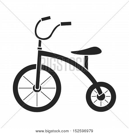 Tricycle icon in black style isolated on white background. Play garden symbol vector illustration.