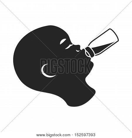 Feeding icon in black style isolated on white background. Pregnancy symbol vector illustration.