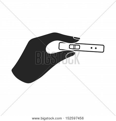 Pregnancy test icon in black style isolated on white background. Pregnancy symbol vector illustration.