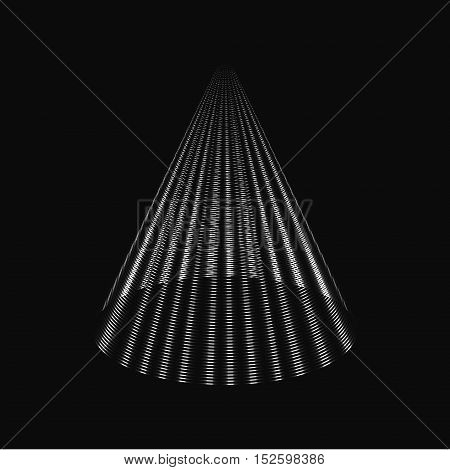 Modern black and white Christmas tree cone vector background