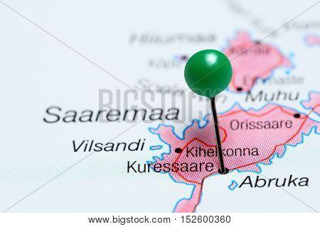 Kuressaare pinned on a map of Estonia