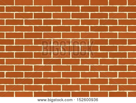 Red brick wall texture background. Background of old vintage brick wall.