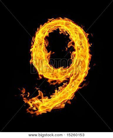 9 (neun), fire Abbildung