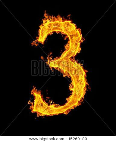 3 (three), fire figure