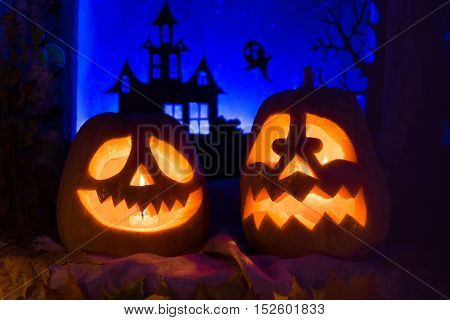 Pumpkins For Halloween. All Saints' Day.