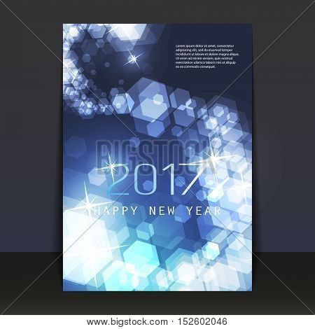 New Year Flyer, Card or Cover Design - 2017