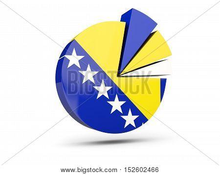Flag Of Bosnia And Herzegovina, Round Diagram Icon