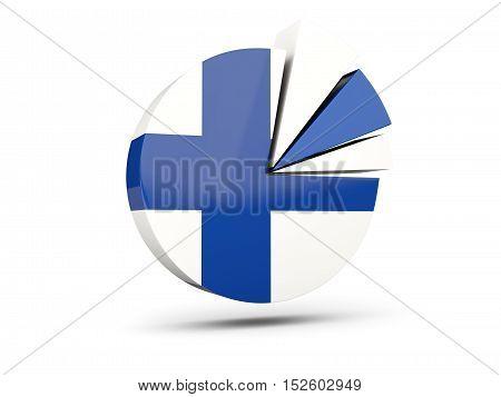 Flag Of Finland, Round Diagram Icon