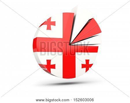 Flag Of Georgia, Round Diagram Icon