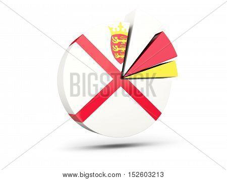 Flag Of Jersey, Round Diagram Icon