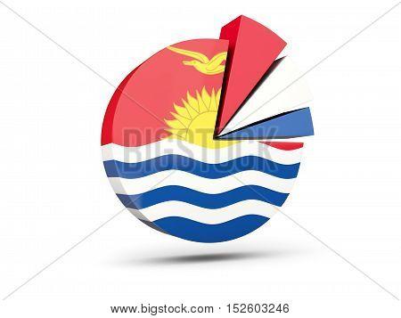 Flag Of Kiribati, Round Diagram Icon