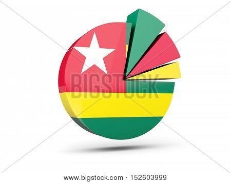 Flag Of Togo, Round Diagram Icon