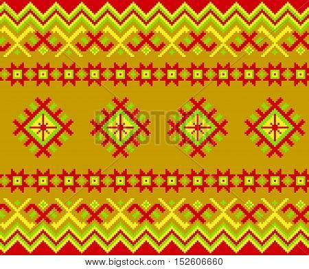 Carpet with Baltic seamless ornament, vector image.