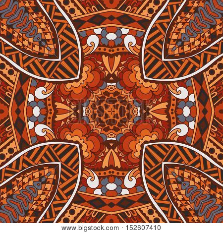 abstract geometric tiles bohemian ethnic seamless vector pattern ornamental. Hand drawn graphic print