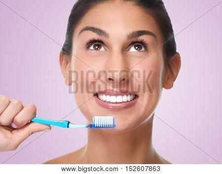 Woman smile.