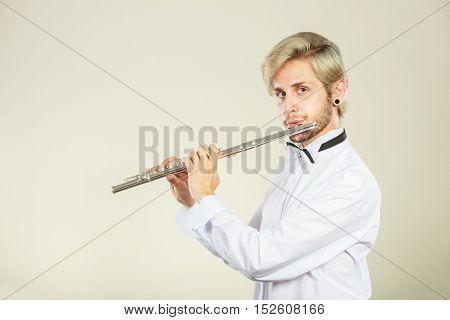 Flute Music Playing Flutist Musician Performer