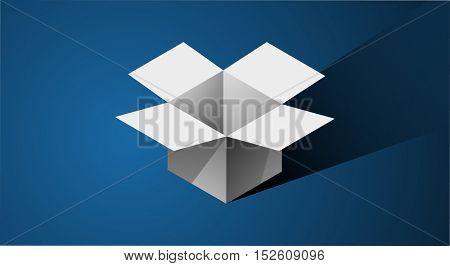 Box Icon Symbol Data Storage Concept