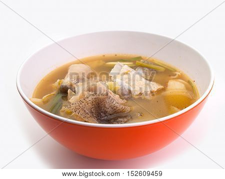 Spicy Fish soup hot soup Tom yumLow calories food