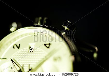 vintage style of luxury men watch with stainless case, concept of number in watch