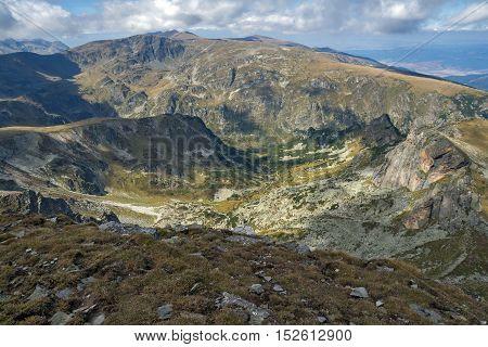 Amazing view from Malyovitsa peak, Rila Mountain, Bulgaria