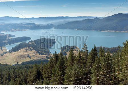 Amazing Landscape of Dospat  Reservoir, Smolyan Region, Bulgaria