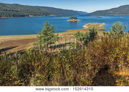 Panoramic view of Dospat  Reservoir, Smolyan Region, Bulgaria