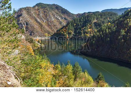 Autumn Landscape of Teshel  Reservoir, Smolyan Region, Bulgaria