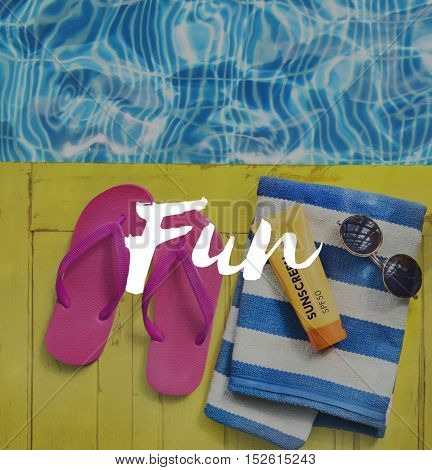 Freedom Summer Fun Relaxation Concept