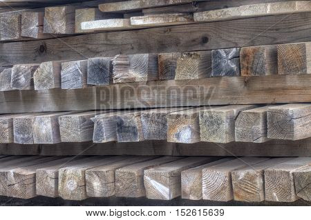 colorful wooden wet planks which lie on one another