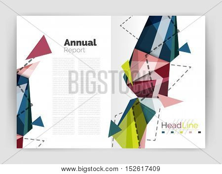 Triangle abstract background. Vector illustration