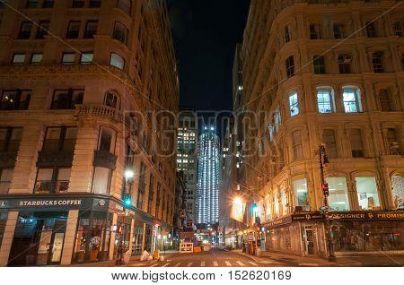 New York City - November 6 2011: World Trade Center complex under construction in lower Manhattan.