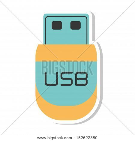 usb storage device isolated icon vector illustration design