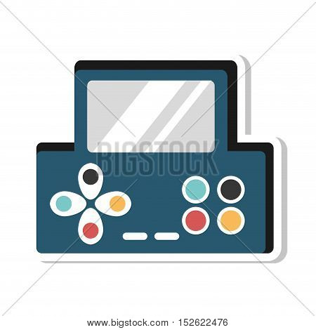 video game console portable vector illustration design