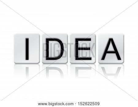 Idea Isolated Tiled Letters Concept And Theme