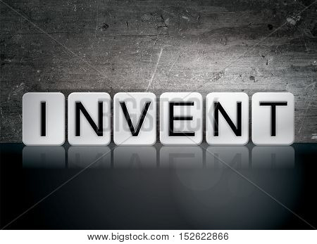 Invent Tiled Letters Concept And Theme