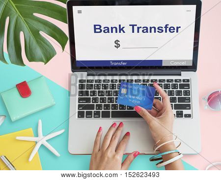Online Money Transfer Interface Concept