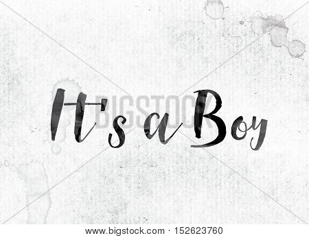 It's A Boy Concept Painted In Ink