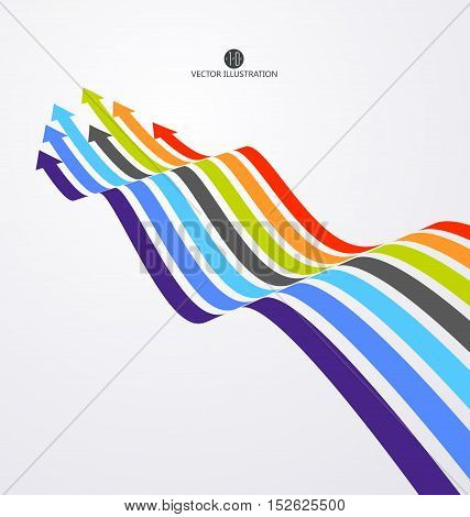 Sense of perspective arrows growth meaning,Abstract business illustration.