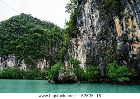 Koh Hong Island Krabi In Thailand Big Rock In Sea