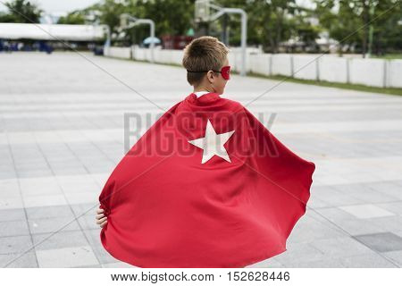 Superhero Boy Kid Customer Energy Concept