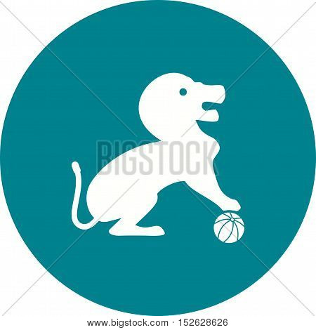Circus, lion, stage icon vector image. Can also be used for circus. Suitable for mobile apps, web apps and print media.