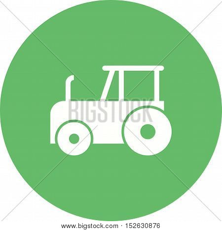 Tractor, farm, field icon vector image. Can also be used for farm. Suitable for mobile apps, web apps and print media.