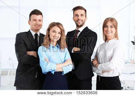 Business people at modern office