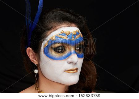 Women With Blue Mask