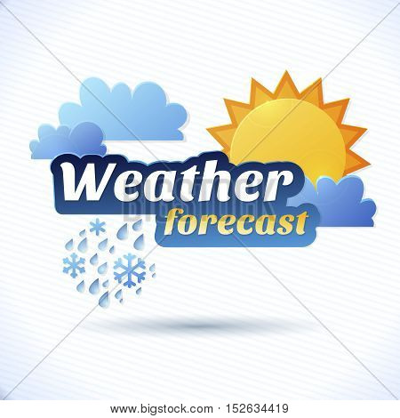 weather forecast illustration Weather forecast icons set.